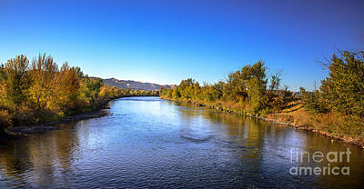 Early Fall On The Payette River Print by Robert Bales