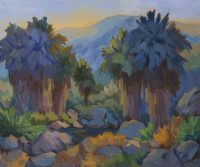 Early Spring Painting - Early Light Indian Canyon by Diane McClary