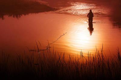 Early Morning Fishing Print by Todd Klassy
