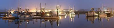 Early Morning Harbor II Original by Jon Glaser