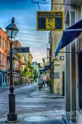 Early Morning In French Quarter Nola Print by Kathleen K Parker