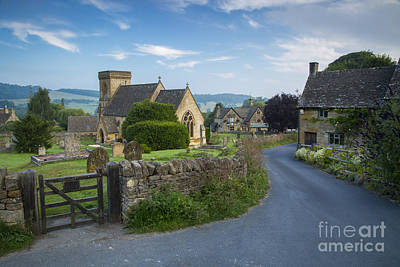 Chapel Of Ease Photograph - Early Morning In Snowshill by Brian Jannsen