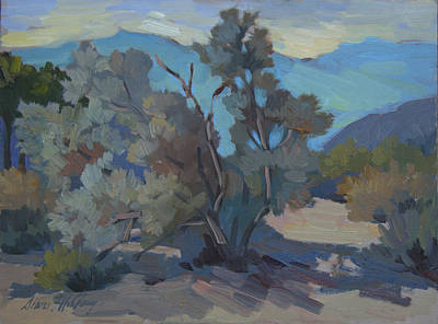 Early Spring Painting - Early Morning Light Smoke Tree by Diane McClary