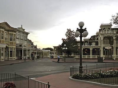 Early Morning Magic Kingdom Walt Disney World Print by Thomas Woolworth