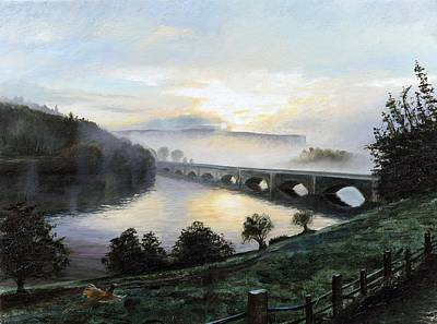 Early Morning Mist, 2009 Oil On Canvas Print by Trevor Neal