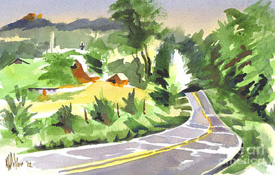 Early Morning Out Route Jj Print by Kip DeVore