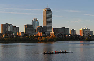Prudential Center Photograph - Early Morning Preparation For The Head Of The Charles  by Juergen Roth