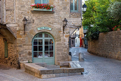 Languedoc Photograph - Early Morning Restaurant And Street by Brian Jannsen
