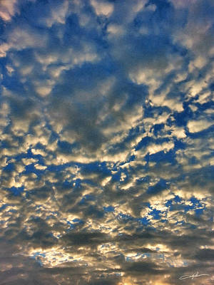 Cloudscape Digital Art - Early Morning Skyscape by Dale Jackson