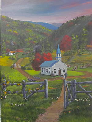 Smokey Mountains Painting - Early On The Lord's Day by Glen Gray