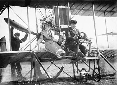 Daring Photograph - Early Passenger Airplane Flight by Library Of Congress