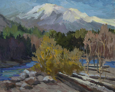 Early Snow Cascade Mountains Original by Diane McClary