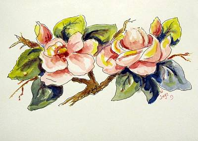 Early Spring Mixed Media - Early Spring Flowers by Jacqueline Juge