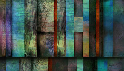 Earth And Sky  Abstract Art  Print by Ann Powell