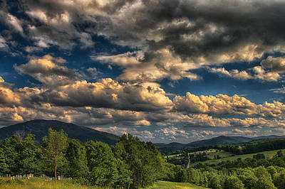 Earth Bending At Mt. Ascutney Print by Nathan Larson