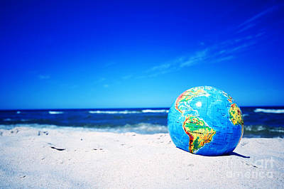 Peace Photograph - Earth Globe. Conceptual Image by Michal Bednarek