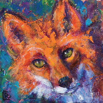 Red Fox Painting - Earth Keeper Red Fox by Rosemary Conroy