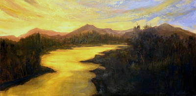 Painting - Earth Light Series Golden Moment by Len Sodenkamp