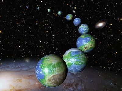 Starfield Photograph - Earth-like Alien Planets by Nasa/esa/g.bacon/stsci