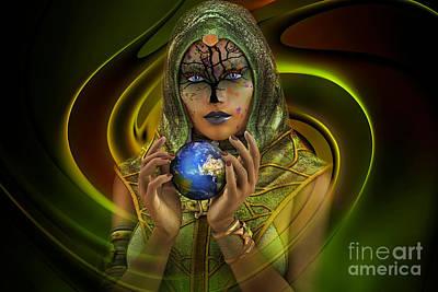 Gaia Digital Art - Earth Soul by Shadowlea Is
