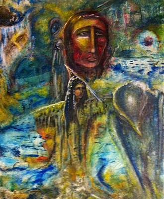 Metaphysical Painting - Earth Woman 2 by Kicking Bear  Productions