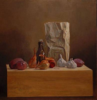 Box Wine Painting - Earth's Bounty by Alan Cayton