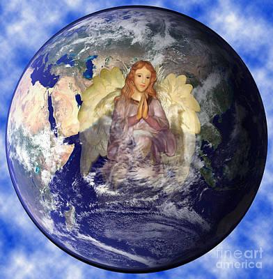 Media Digital Art - Earths Guardian Angel by The Kepharts