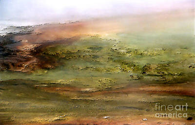 Geyser Digital Art - Earth's Monet - 1 by Linda  Parker