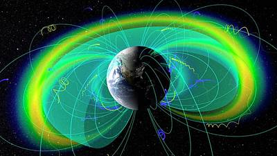 Earth's Radiation And Plasma Belts Print by Nasa/scientific Visualization Studio