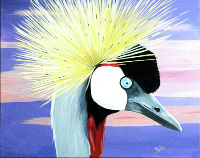 East African Crowned Crane Print by Phyllis Kaltenbach