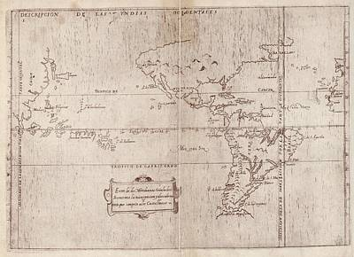 East And West Indies Print by Library Of Congress, Geography And Map Division