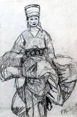 East Asian Woman Original by Paul Sutcliffe
