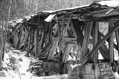 East Branch And Lincoln Railroad - Timber Trestle 16 Print by Erin Paul Donovan
