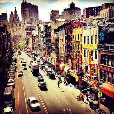 Nyc Streets Photograph - East Broadway - Chinatown - New York City by Vivienne Gucwa