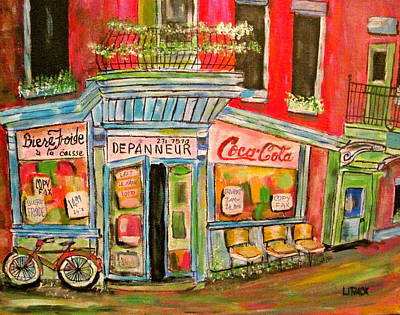 Litvack Painting - East End Depanneur by Michael Litvack