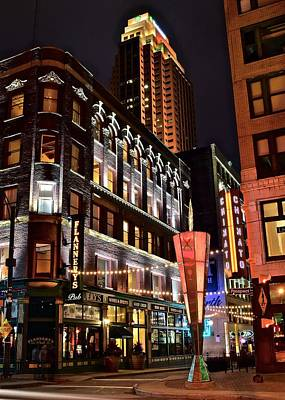 East Fourth And Chinatown Print by Frozen in Time Fine Art Photography