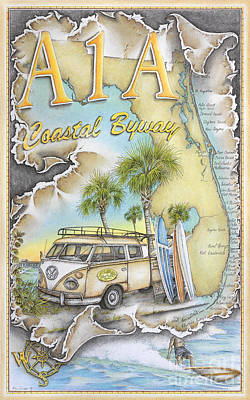 East Of A 1 A Original by Mike Williams
