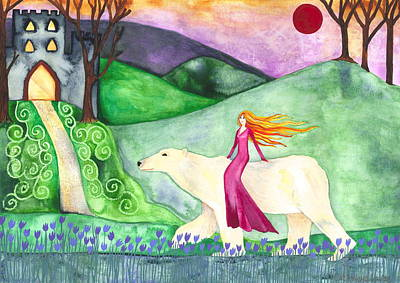 The Hills Mixed Media - East Of The Sun And West Of The Moon by Cat Athena Louise
