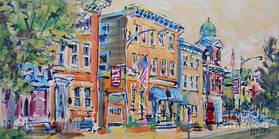 Fauvism Painting - East On Main by Larry Lerew