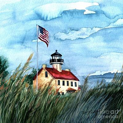Cumberland River Painting - East Point Lighthouse 2 by Nancy Patterson