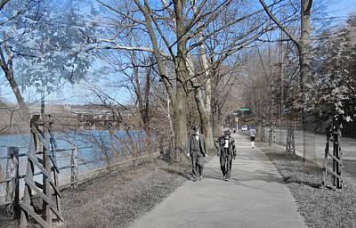 East River Drive Walk Print by Eric Nagy