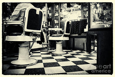 Filmnoir Photograph - East Side Barber Shop New York City by Sabine Jacobs