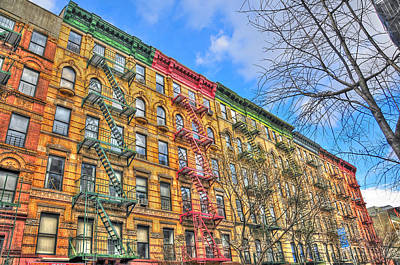 East Village Buildings On East Fourth Street And Bowery Print by Randy Aveille