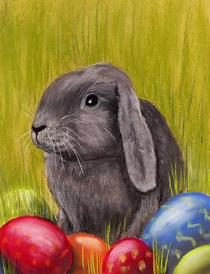 Easter Bunny Print by Anastasiya Malakhova