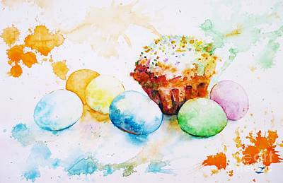 Easter Colors Original by Zaira Dzhaubaeva