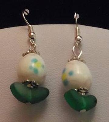Earrings Jewelry - Easter Egg Earrings by Kimberly Johnson