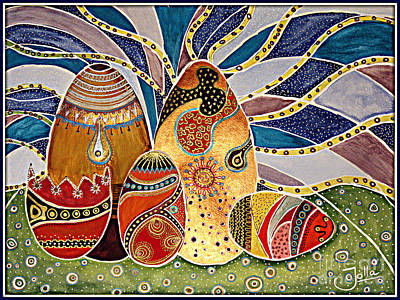Copper Color Painting - Easter Eggstravaganza by Jolanta Anna Karolska