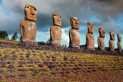 Easter Island, Chile Print by Janet Muir