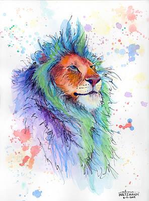Easter Lion Print by Arleana Holtzmann