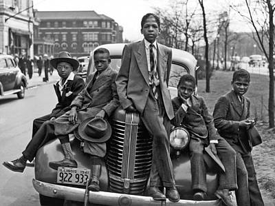 African-american Photograph - Easter On Chicago Southside by Underwood Archives